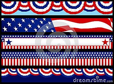 Bandeiras do Web da eleição