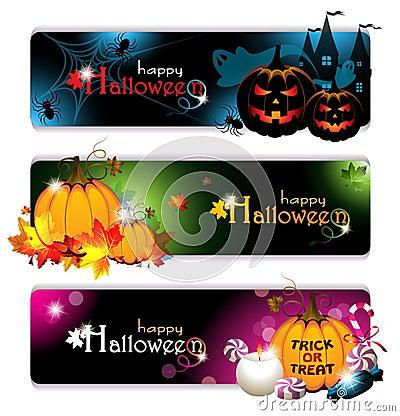 Bandeiras extravagantes de Halloween