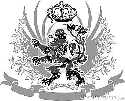 Bandera adornada de la armería decorativa.
