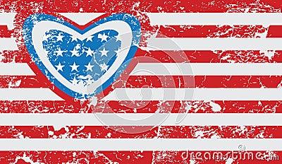 Bandera americana del grunge