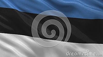 Bandera de Estonia - lazo inconsútil stock de ilustración