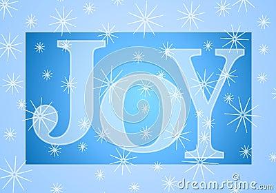 Bandera de la alegría de la Navidad en azul