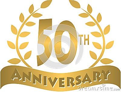 Bandera de oro/EPS del aniversario