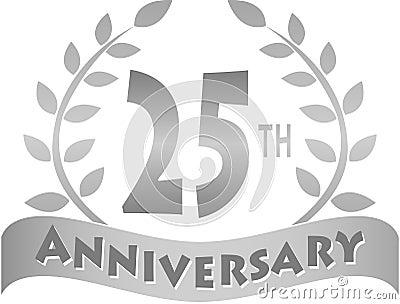 Bandera de plata/EPS del aniversario