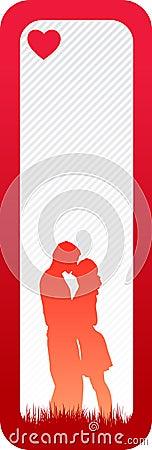Bandera mínima del amor