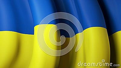 Bandera ondeando ukraine para el diseño de pancartas Fondo animado de la bandera ucraniana Diseño festivo ucraniano Bucle transpa almacen de video
