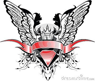 Bandera y alas