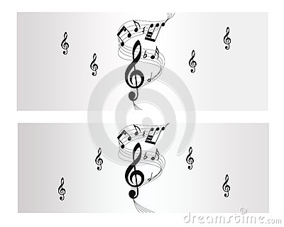 Bandera del vector de la melodía, de la nota y de la música