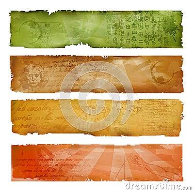 Banderas artísticas coloridas