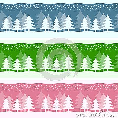 Banderas de la Navidad del invierno