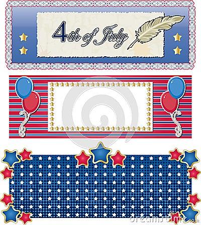 Banderas del día de fiesta