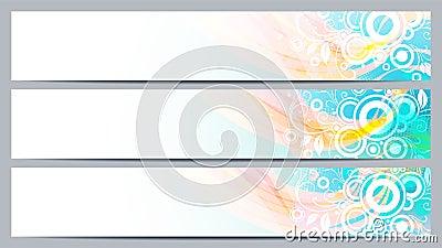 Banderas mínimas del diseño para su texto