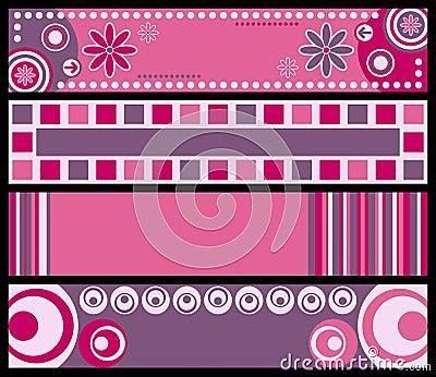 Banderas retras [color de rosa]