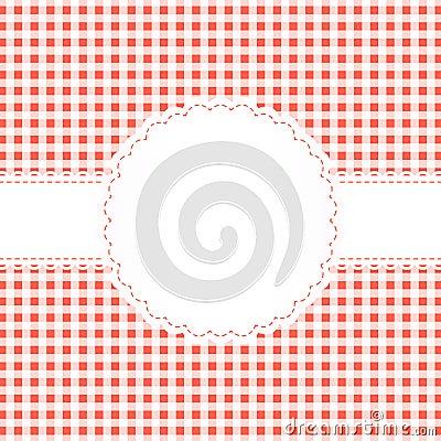 Banderole on checkered pattern