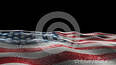 Bandiera degli Stati Uniti d'America illustrazione di stock