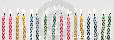 Bandiera della candela di compleanno
