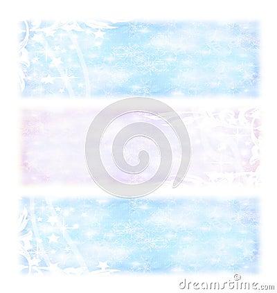 Bandiere di vacanze invernali