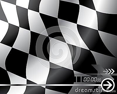 Bandierina Checkered di vettore