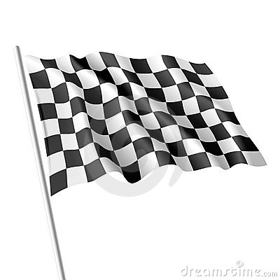 Bandierina Checkered. Vettore.