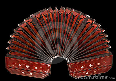 Bandoneon, argentine tango instrument, isolated