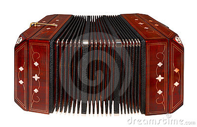 Bandoneon, isolated on white