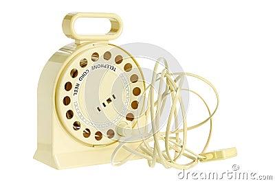 Bandspule des Telefon-Netzkabels