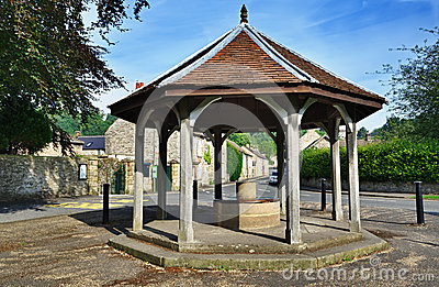 Bandstand in Ashford-In-The-Water, Derbyshire
