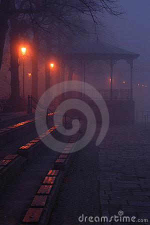 Bandstand in the Fog