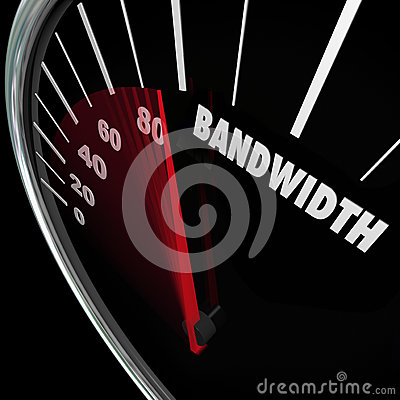 Free Bandwidth Speedometer Limited Resources Traffic Communication Stock Photography - 48758882