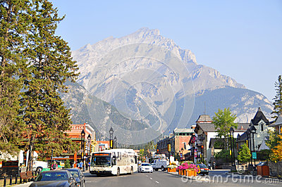 Banff Avenue Editorial Stock Image