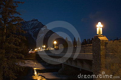 Banff at night