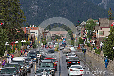 Banff Town Center Editorial Image