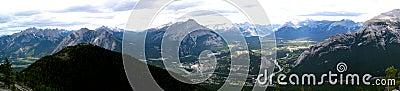 Banff Townsite Mountain Panoramic