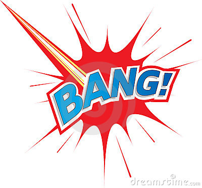 Bang! Comic explosion Logo icon text