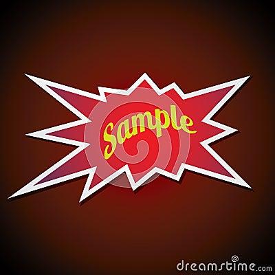 Bang label Vector Illustration