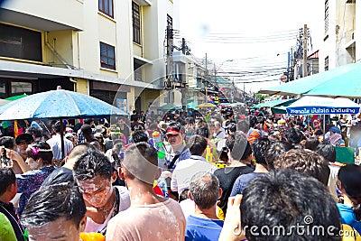 BANGKOK - 2012 APRIL 13: Songkran Festival Editorial Image