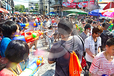 BANGKOK - 2012 APRIL 13: Songkran Festival Editorial Image