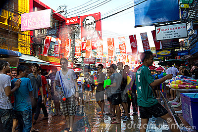 BANGKOK - 2012 APRIL 13: Songkran Festival Editorial Photography
