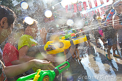 BANGKOK - 2012 APRIL 13: Songkran Festival Editorial Stock Photo