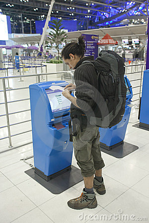 Bangkok airport Editorial Stock Photo