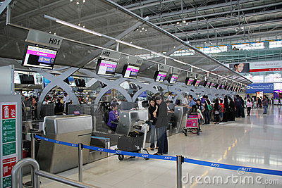 Bangkok airport Editorial Stock Photo