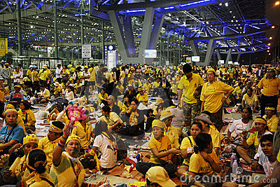 Bangkok Airport Closure Editorial Stock Photo