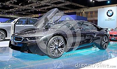 Bangkok - April 2 : BMW series I8 innovation car