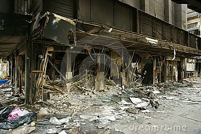 Bangkok arson Editorial Photo