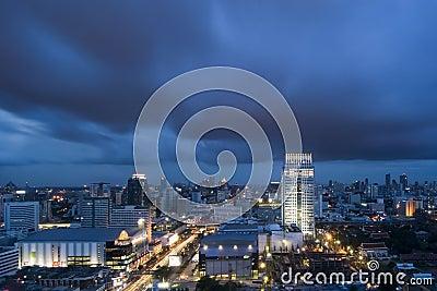 Bangkok bij Schemer