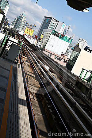 Bangkok Bus Rapid Transit System Royalty Free Stock Photography - Image: 23978277