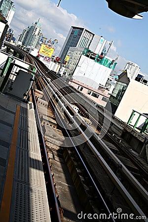 Bangkok bus rapid transit system Editorial Photography