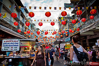 Bangkok China Town Editorial Image