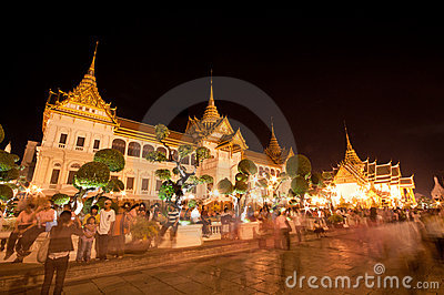 Bangkok-Dec 5:The Grand Palace Editorial Stock Photo