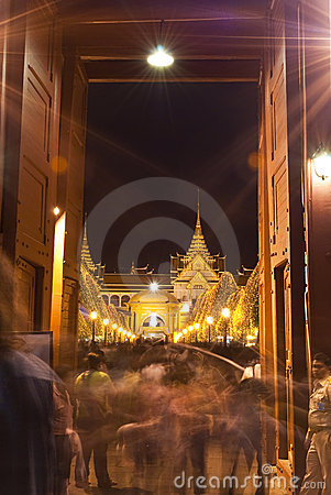 Bangkok - Dec 7:Tourists enjoy thenight atGrand Pa Editorial Stock Photo